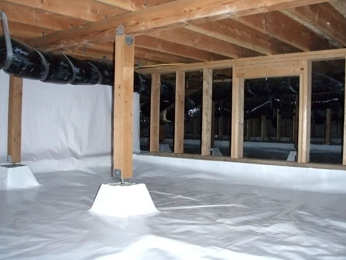 Beau A Large, Encapsulated Crawl Space With Our Vapor Barrier System Installed  In Absecon.