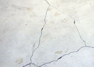 cracks in a slab floor consistent with slab heave in Pleasantville.