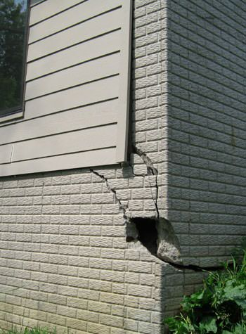 severe cracking of structural walls in Egg Harbor Township