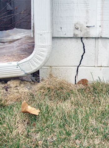 foundation wall cracks due to street creep in Ventor City