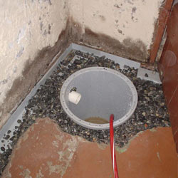 Installing a sump in a sump pump liner in a Clementon home