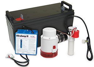 a battery backup sump pump system in Hammonton