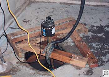 A Glassboro sump pump system that failed and lead to a basement flood.