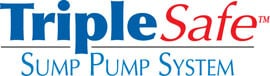 Sump pump system logo for our TripleSafe™, available in areas like Minotola
