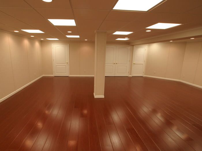 Laminate flooring floating laminate flooring basement for Basement flooring options
