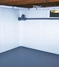 Plastic basement wall panels installed in a Egg Harbor Township, New Jersey home