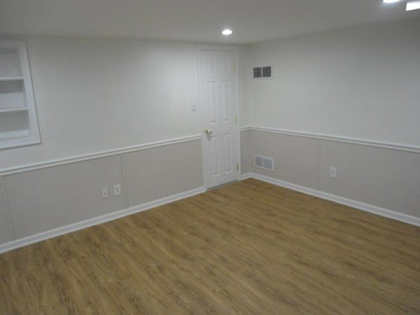 a bright white washable basement wall covering that does not adhere to the walls and resists mold & rot for Manchester Township homeowners
